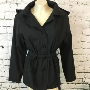 Cheneral The Original M Coat Black Trench Hooded
